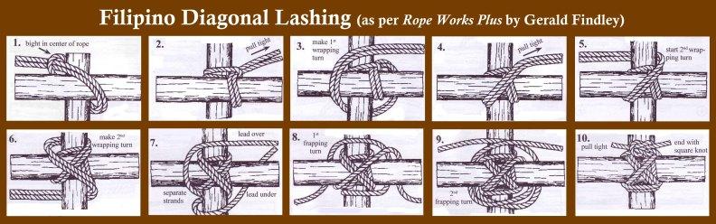 Filipino Diagonal Lashing