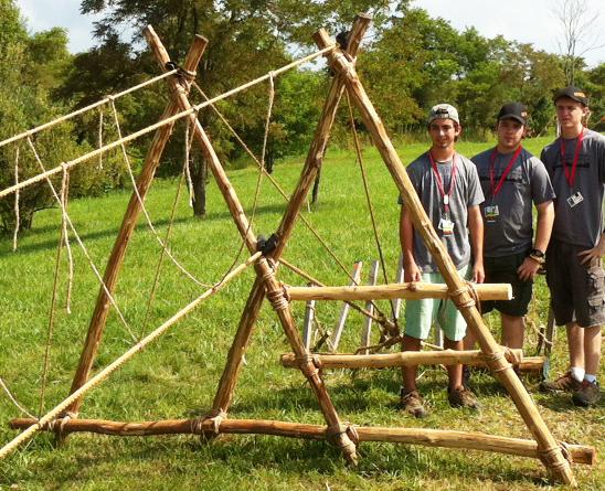 how to build a monkey bridge