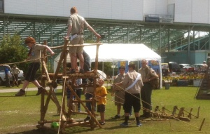 Bridge in Operation at a Council-wide Scout Expo