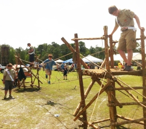 Bridge in operation during a Scout Expo