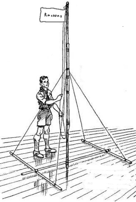 Scout Meeting Challenge Free Standing Flagpole Scout