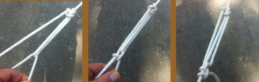 Simple Rope Tackle for a Low Stress Application using Braided Nylon Cord.