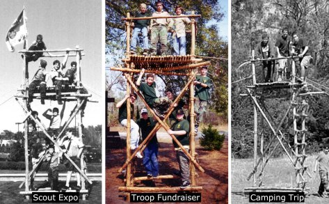 Three 14' Double Ladder Signal Towers (Back in the Day)