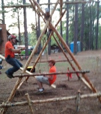 The Swing Boat at Camp Coker During Dixie Fellowship