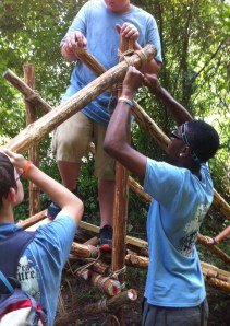 Building a Single Trestle Bridge at Summer Camp