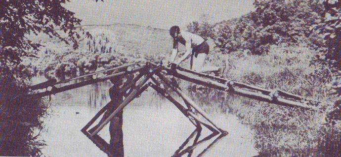 Single Lock Bridge Photo Scanned from 1967 Field Book