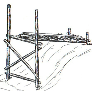 Drawing 1: Trestle Heeled in with one walkway positioned.