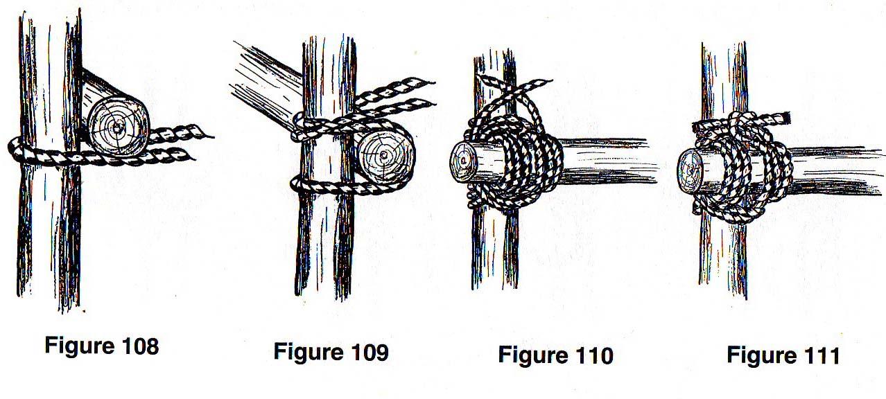 Tying the japanese mark ii square lashing