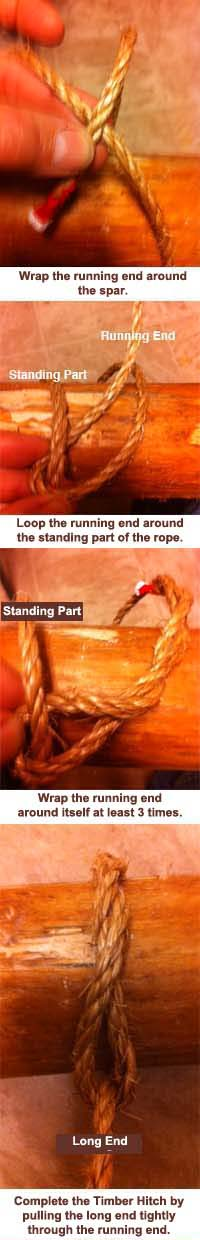 Steps to Tying a Timber Hitch