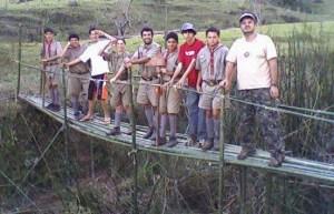 Bridge Project built in Brazilian Boy Scout Camp