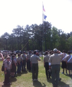 Opening Ceremony at a District Camporee