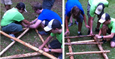 Building the Trestles and Walkways
