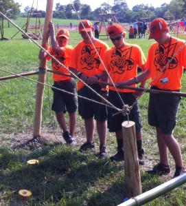 From left to right: Corner Rope Handler, 2 Observers, Signal Caller