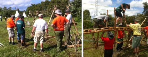 Building the Double A-Frame Monkey Bridge and Pre-stressed Triple Walkway Bridge
