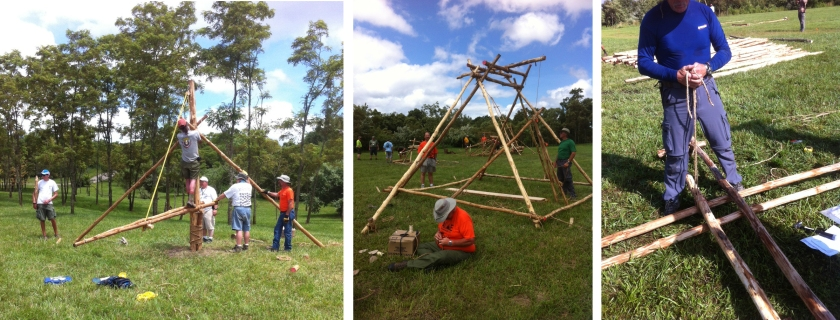 Building One of the Derricks, the Swing Boast, and Tic-Tac-Toe Activity