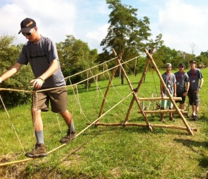 Modified Double A-Frame Monkey Bridge