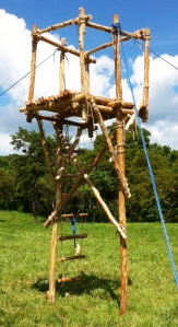 STilt Tower Display in the Pioneering Area on Garden Ground Mountain