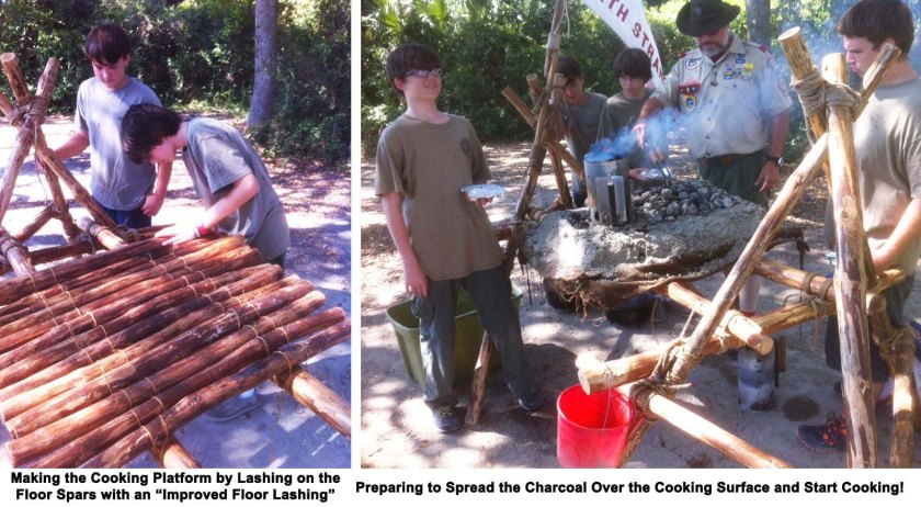 It's obvious the patrol is ready to foil cook their lunches before the coals are ready!