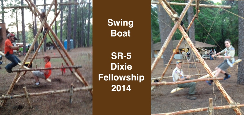 The Swing Boat was situated near the Trading Post.