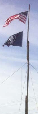 35' Flagpole Erected at Scout Expo