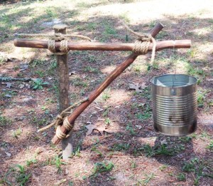 Single Fire Bucket Holder