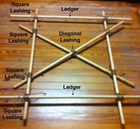 how to make a stretcher with a hoochie and rope