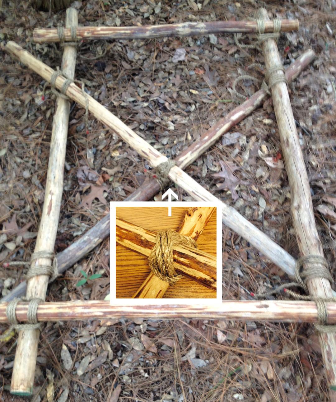 pioneering curriculum ix  using a diagonal lashing and