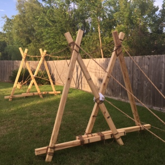 "Double A-Frame Monkey Bride Made from ""Sandwiched"" 2x4s"